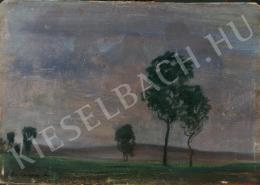 Gulácsy Lajos - Táj fákkal
