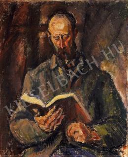 Márffy Ödön - Olvasó férfi pipával