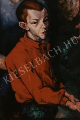 Tihanyi, Lajos, - Boy in Red Shirt