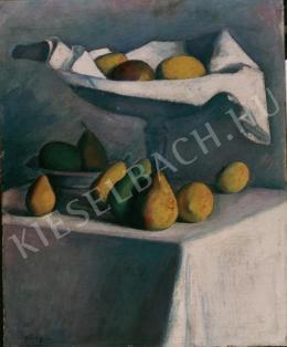 Czigány Dezső - Asztali csendélet körtével, citrommal