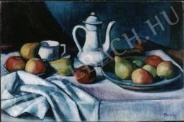 Kmetty János - Csendélet kancsóval és gyümölccsel