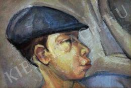 Tihanyi, Lajos, - Self-Portrait with Hat
