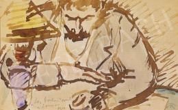 Rippl-Rónai József - Olvasó férfi lámpánál
