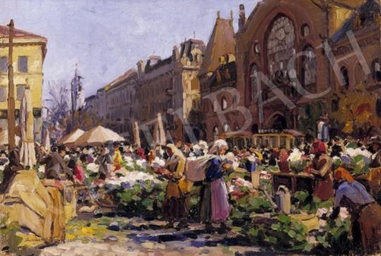 Muzsinszki Nagy, Endre - Market Place in Pest with the Market Hall in the Background | 2nd Auction auction / 8 Item