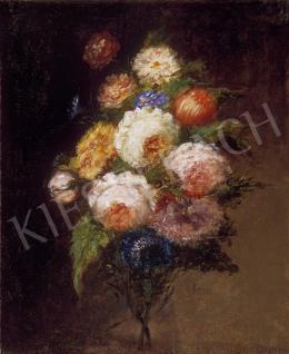 Ismeretlen festő, 1870 körül - Rózsacsokor