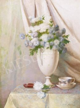 Tolnay Ákos - Fehér virágcsendélet