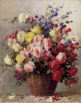Henczné Deák Adrienne - Nagy rózsacsokor