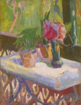 Gyenes, Gitta - Flowers on the Verandah