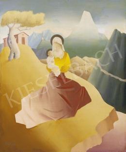 Molnár C. Pál - Madonna gyermekével