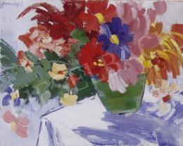 Vaszary János - Nagy virágcsendélet (Toscaninis-csendélet)
