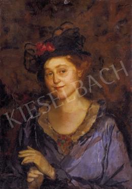 Jávor, Pál - Lady in Blue Dress