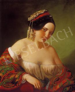 Ismeretlen festő, 1850 körül - Hölgy görög ruhában