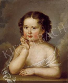Ismeretlen osztrák festő, 1815 körül - Könyöklő kislány