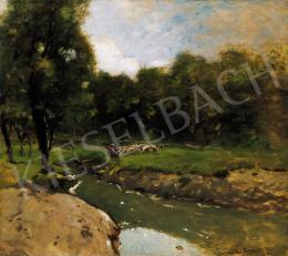 K. Spányi, Béla - Sheep by the Brook