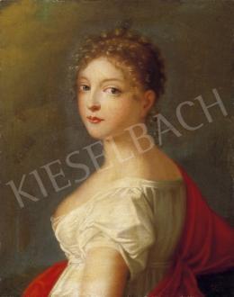 Ismeretlen festő, 1810 körül - Kislány piros stólával