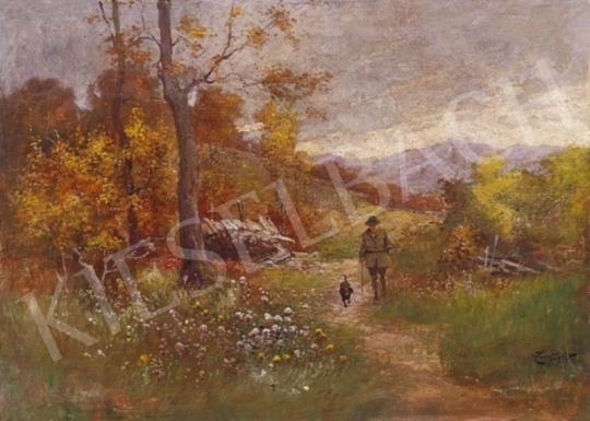 Zorkóczy Gyula - Vadász őszi tájban | 2. Aukció aukció / 144 tétel