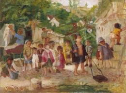 Gedő Lipót - Játszó gyermekek