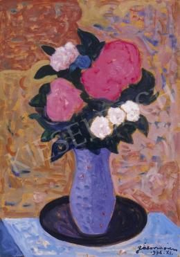 Gábor Móric - Rózsák kék vázában