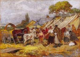 Deák Ébner, Lajos - Szolnok Fair - Bargain to the Donkey