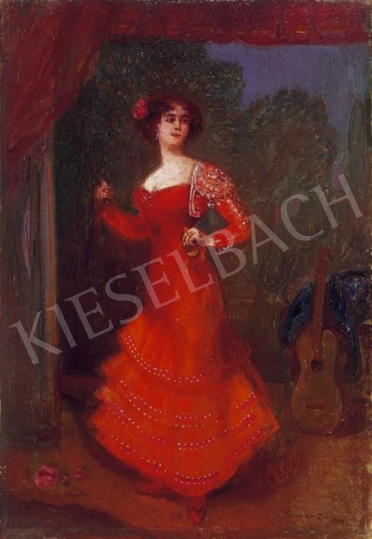 Herrer Cézár - Spanyol táncosnő | 2. Aukció aukció / 223 tétel