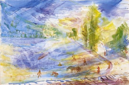 Klie Zoltán - Zöld-kék táj | 2. Aukció aukció / 236 tétel