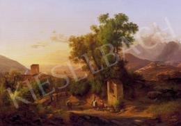 Ifj. Markó Károly - Firenze környéki táj, 1860