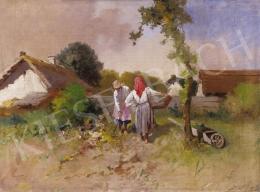 Neogrády, Antal - Village Scene