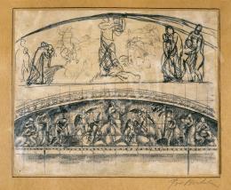 Pór Bertalan - Freskóterv, 1910 körül