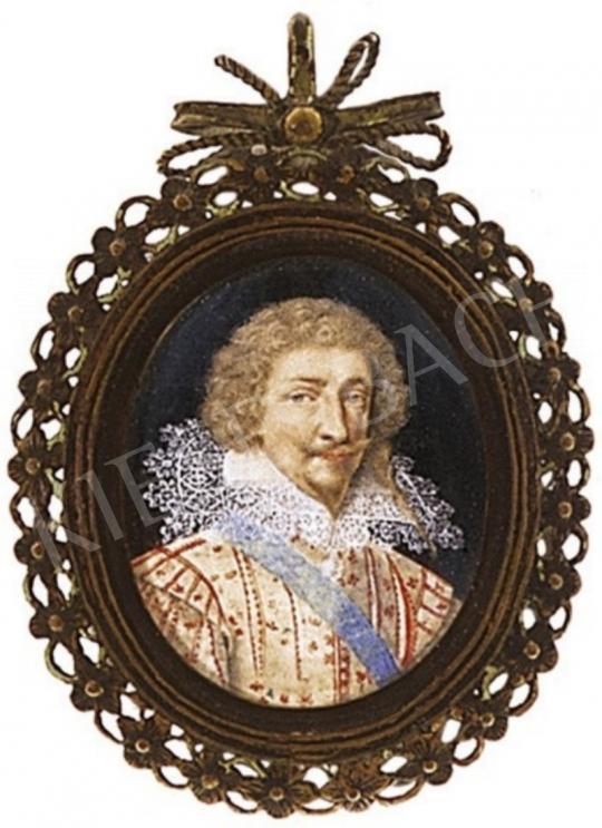Ismeretlen festő - Csipkegalléros férfiportré, 18.sz. eleje | 2. Aukció aukció / 321a tétel