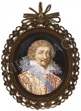 Ismeretlen festő - Csipkegalléros férfiportré, 18.sz. eleje