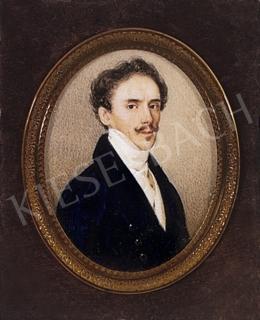 Ismeretlen festő - Fehérnyakkendős férfi portréja, 1835 körül