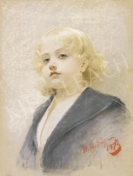 Schramm, Alois Hans - Szőke kislány portréja
