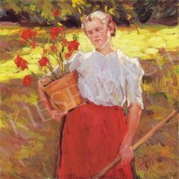 Ismeretlen festő - Kertészlány