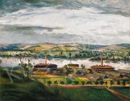 Kernstok, Károly - Landscape by the River Danube