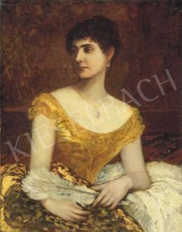 Lotz Károly - Hölgy legyezővel
