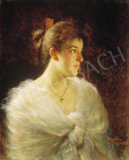 Gelli, Edoardo - Fiatal hölgy fehér ruhában
