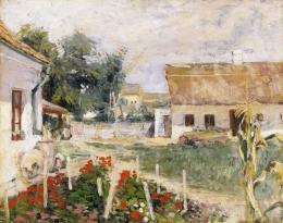 Herman, Lipót - Garden with Geraniums