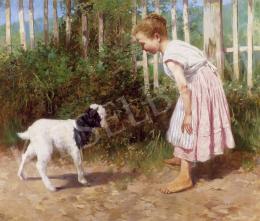 Peske Géza - Kislány gidával