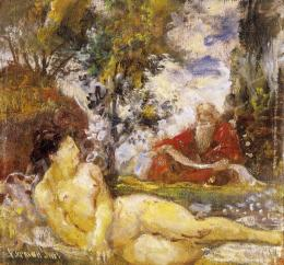 Herman, Lipót - Nude in the Open-Air