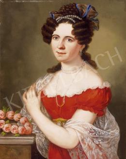 Donát János - Hölgy rózsakoszorúval