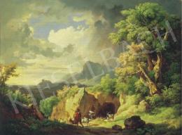 Id. Markó, Károly sr. - Italian Landscape with a Shepherd