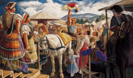 Gábor Jenő - Vásári akrobaták | 21. Aukció aukció / 129 tétel