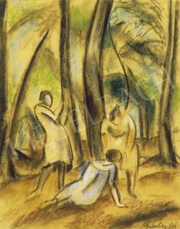 Gráber Margit - Három nő a parkban
