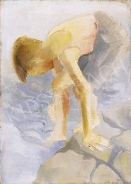 Rozsda Endre - Vízben lévő fiú