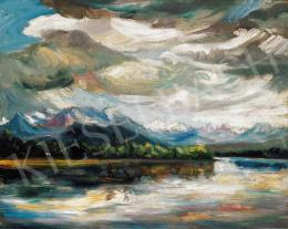 Kernstok, Károly - Boat in the River, 1920