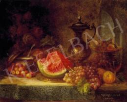 Ujházy Ferenc - Csendélet kancsóval és gyümölcsökkel