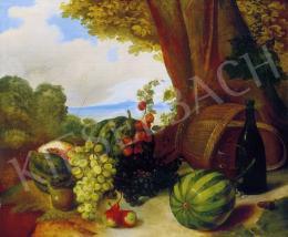 A.S. jelzéssel, 1850. - Gyümölcscsendélet