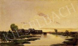 K. Spányi, Béla - Watermill at Sunset