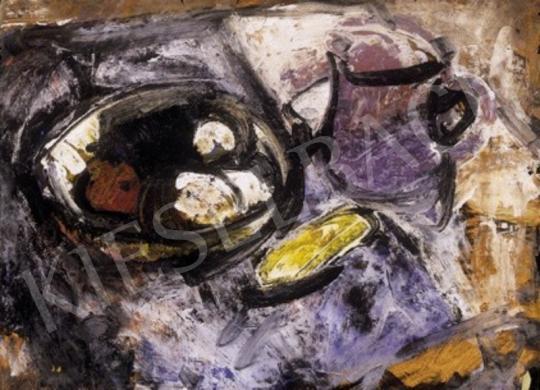 Domanovszky Endre - Csendélet lila korsóval | 1. Aukció aukció / 275 tétel