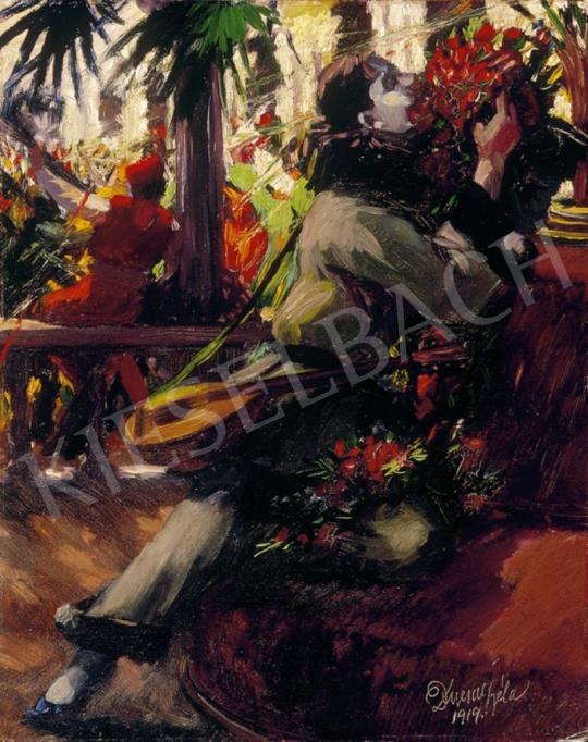 Ducsay Béla - Pierrot virággal | 1. Aukció aukció / 300 tétel